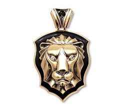 мужской кулон лев