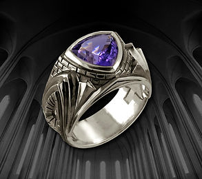 мужское серебряное кольцо с аметистом