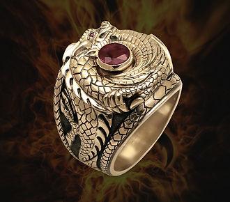 золотой перстень дракон