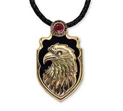 кулон орел на черном агате