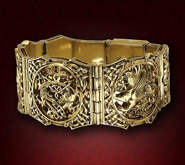 массивный мужской золотой браслет