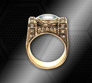 золотой перстень с сапфиром винтаж
