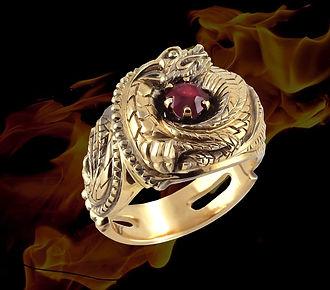 золотое кольцо с драконом