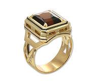 золотое мужское кольцо с турмалином