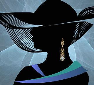 длинные золотые серьги с голубыми топазами в винтажном стиле