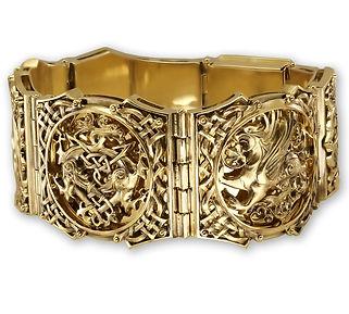 золотой браслет грифон