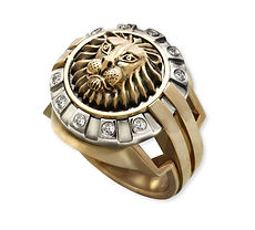 золотой перстень со львом