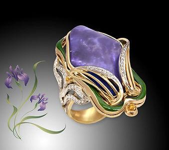 Эксклюзивное золотое кольцо с опалом