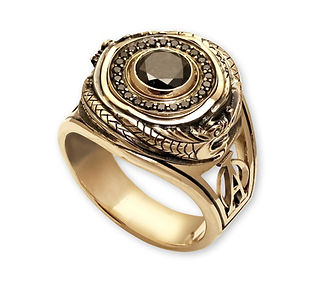 мужской перстень с черными бриллиантами
