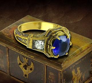 мужской перстень с сапфиром антиквариат