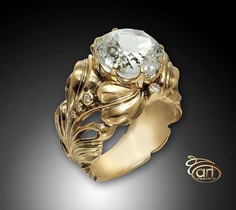 золотое кольцо винтаж