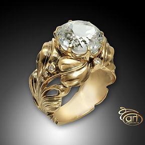 кольцо из золота в винтажном стиле
