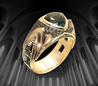 мужское кольцо в готическом стиле