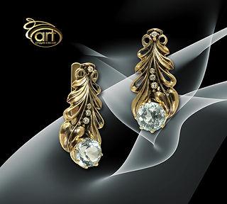 золотые серьги в винтажном стиле