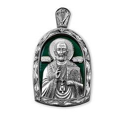 николай чудотворец серебряная икона