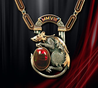 эксклюзивный мужской кулон из серебра с золотом арт-студия ювелир