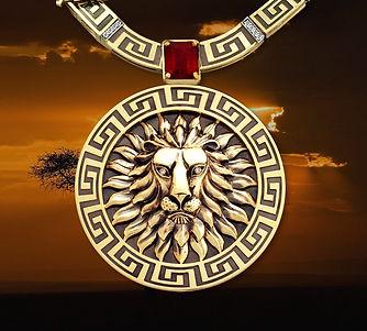 кулон лев из золота арт-студия ювелир