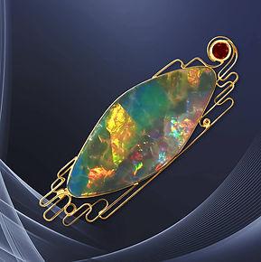 эксклюзивная золотая брошь с опалом арт-студия ювелир