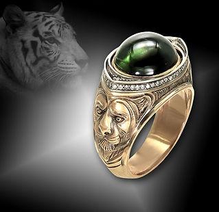 золотое кольцо тигр
