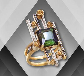 золотое кольцо современный дизайн