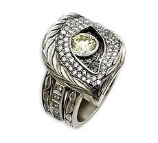 мужской перстень из белого золота