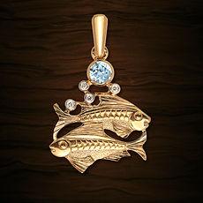 золотая подвеска рыбы