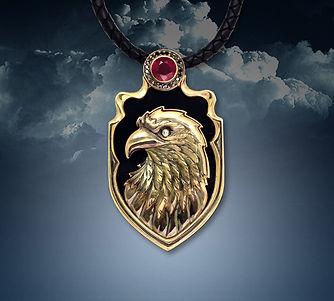 мужской кулон орел из золота арт-студия ювелир