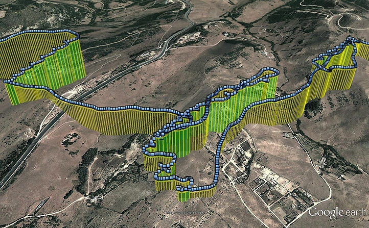 Very high resolution (1 sec) GPS track of hybrid spotted eagle