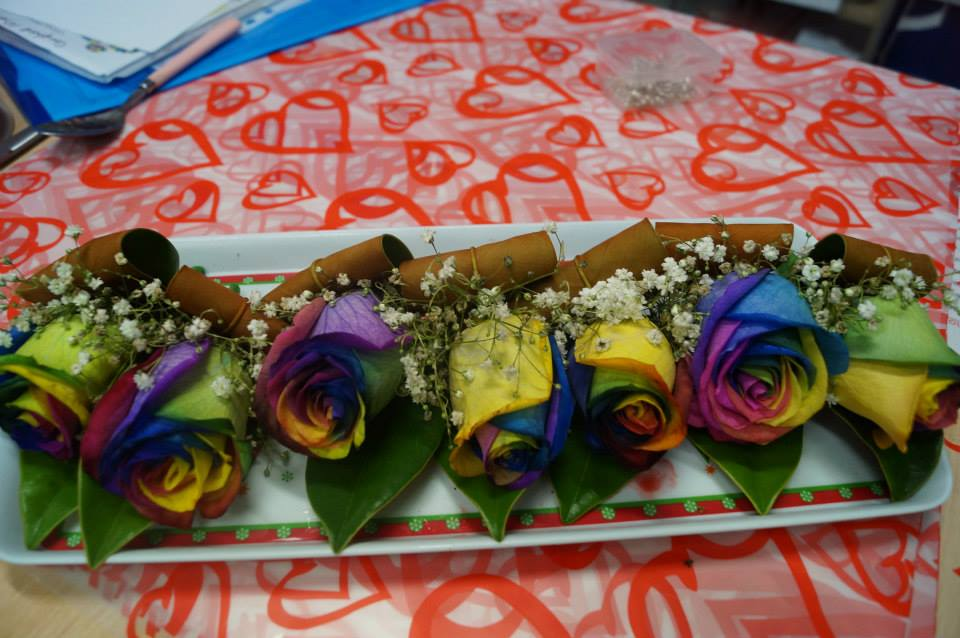 Rainbow Rose Buttonholes.jpg