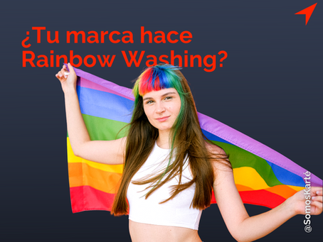Logos arcoíris y glitter everywhere! Rainbow Washing en el mes del orgullo.
