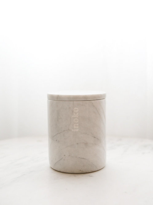 LARGE MARBLE CANDLE VESSEL