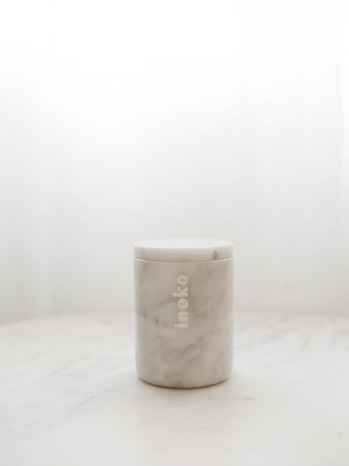 SMALL MARBLE CANDLE VESSEL