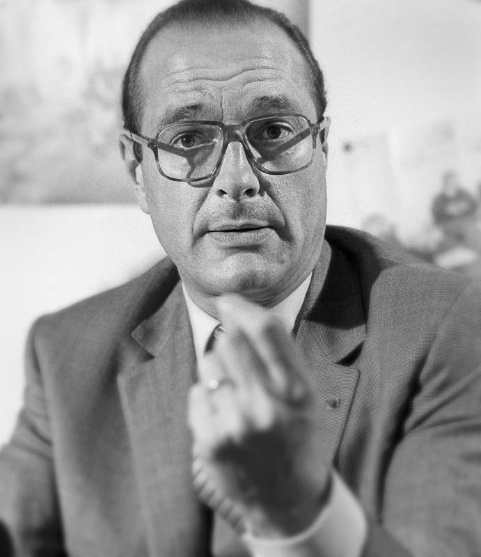 Jacques Chirac. 1981.
