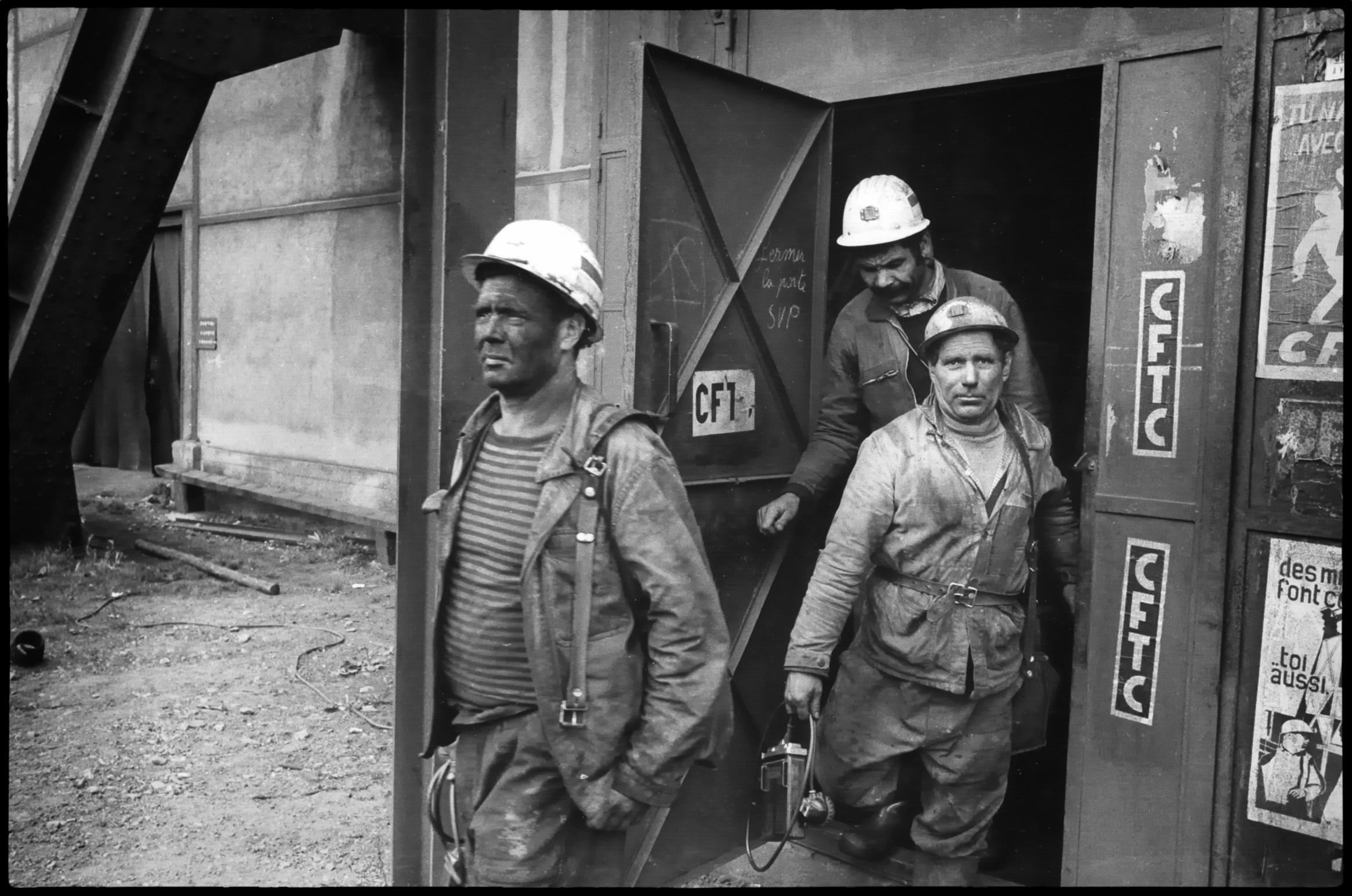 Mineurs de la Mure, France 1981.