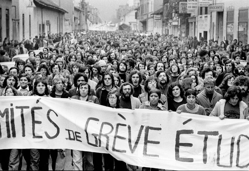 Manifestation étudiante, France 1976