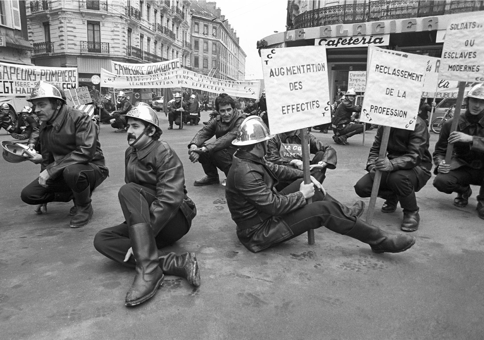 Les Pompiers manifestent, 1978.