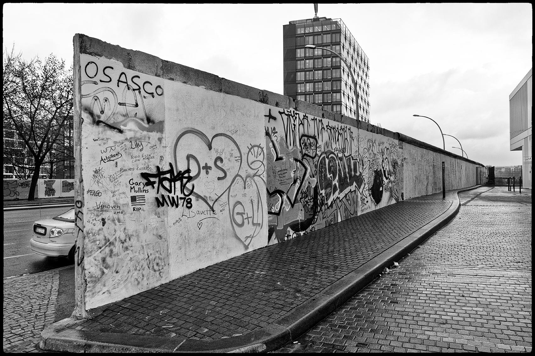 Vestiges du mur de Berlin. 2017.