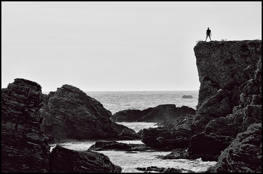 L'homme et la mer. Le Gaou, France.