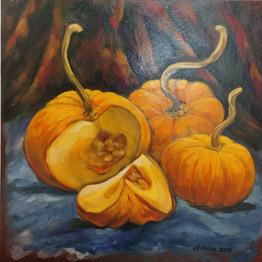 Naturemort- Pumpkins