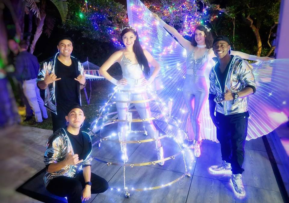 PEP performers entertaining at a private residence party on New Year's Eve