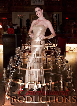 Strolling Champagne Table