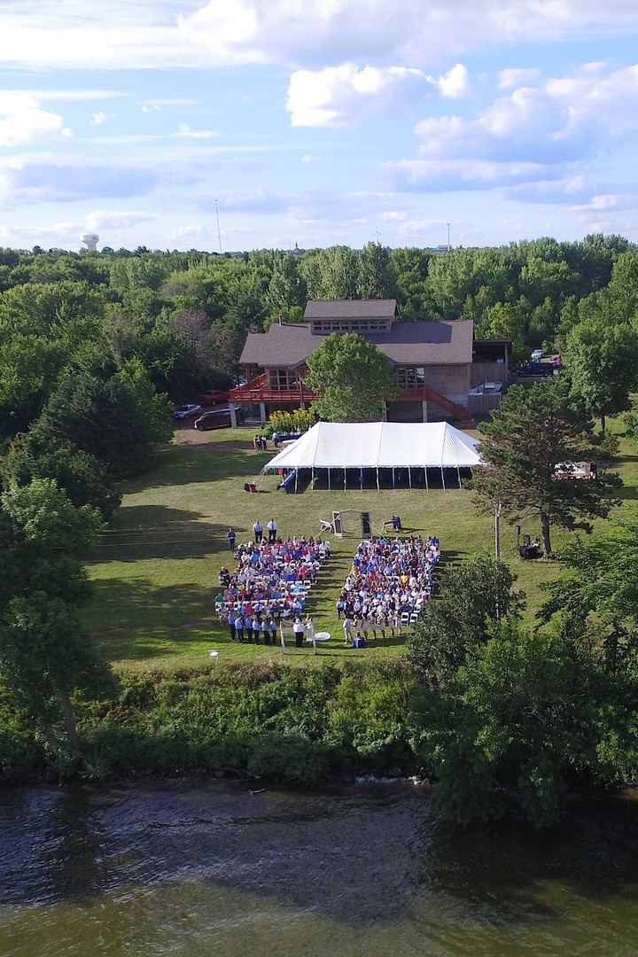 Arial View of Lawn & Event Center