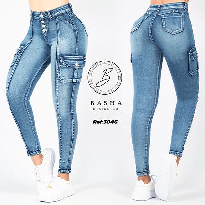 Jean utility para dama Basha Ref 3046
