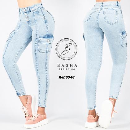 Jean utility para dama Basha Ref 3048