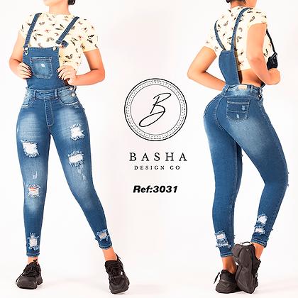 Braga pantalon jean para dama Basha Ref 3031