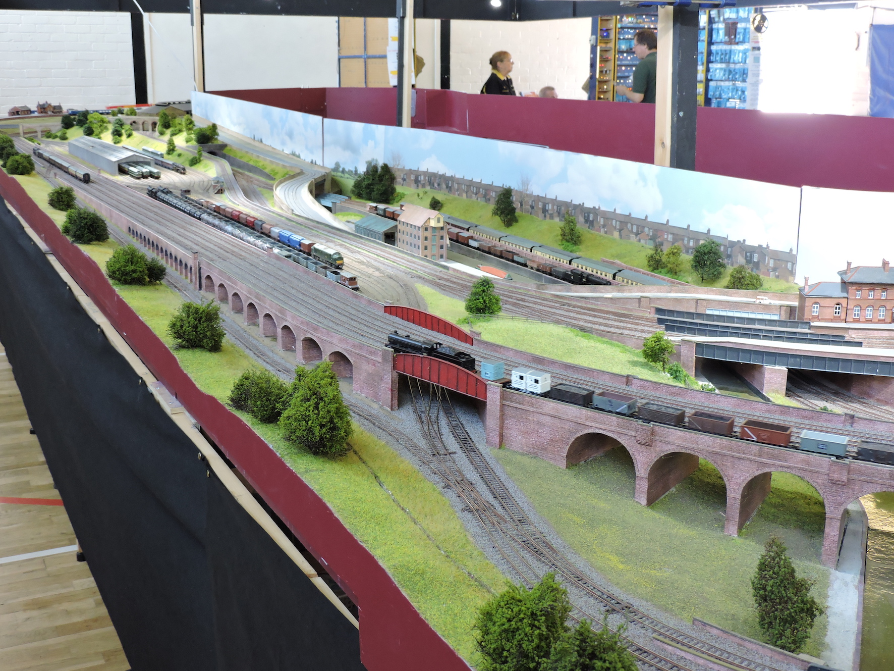 Rear of layout from viaduct corner