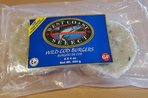Cod Burgers Gluten free Organic