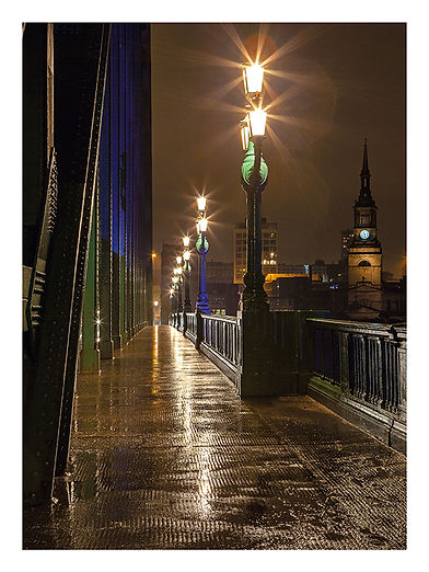 Phil Benton Night Lights Tyne Bridge 20x
