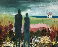Two Look at the House oil on canvas 50x40x3cms.jpeg