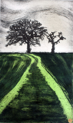 seize+the+day-+Collagraph+and+silk+screen+print